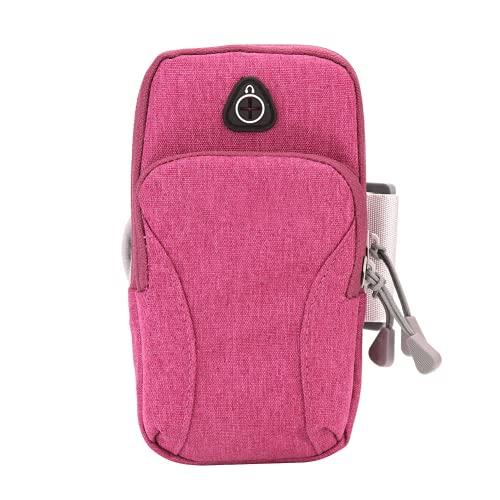 Astibym Bolso Corriente, Bolso Durable Respirable del teléfono del Bolso del Tenedor para los Adultos para completar un Ciclo(Rosado)