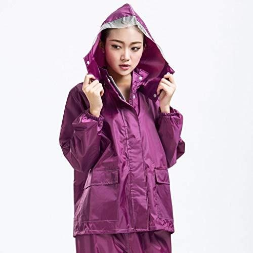 LXESWM waterdichte jassen met capuchon fiets-/loopjack waterdichte broek motorfiets-regenjas split suit outdoor sport Raincoat Work