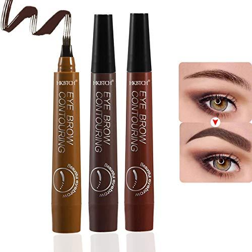 Augenbrauenstift, 3Pcs Eyebrow Tattoo Pen, Microblading Eyebrow Pencil mit 4 Fork Tips, Permanent...