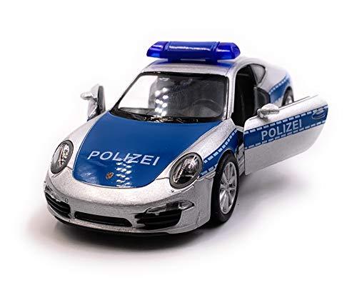 Onlineworld2013 911 Carrera Polizei Modellauto Auto Maßstab 1:34 (lizensiert)
