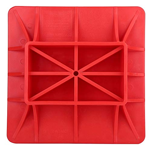 Qiilu Off-Road Base is Compatible with Hi Lift Jack/Sky Jack/Trail Jack PP Synthetic Material Pad to Alleviate Jack Hoisting Sinkage Hi Lift Jack Accessories (Red)