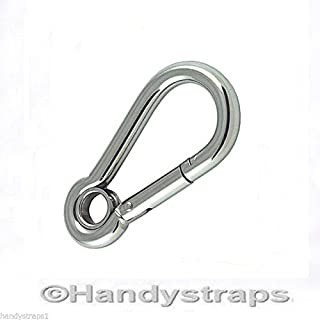 9//32 inch Pack of 2 Bulk Hardware BH04345 M7 Bright Zinc Plated Carabiner Steel Snap Hook Quick Link