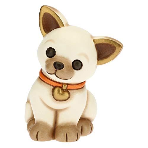 THUN - Soprammobile Cane Chihuahua - Accessori per la Casa da Collezionare - Linea Cani e Gatti - Formato Medio - Ceramica -11,3 x 8,8 x 12,5 h cm