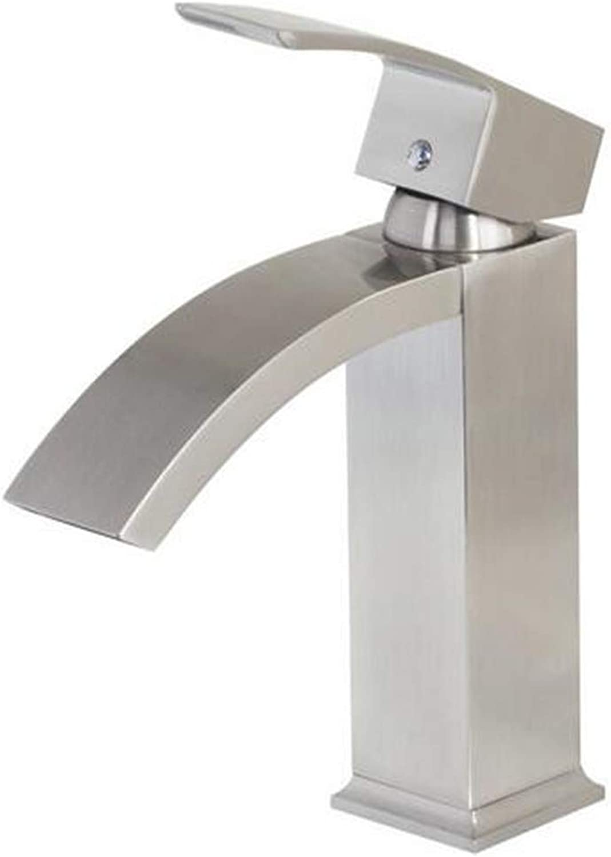 Waschtisch Armatur Badarmatur Waschtischarmatur Waschtischarmatur Waschbeckenarmatur Badarmatur Wasserhahn Verchromt Wasserfall Wasserhahn Einhebelmischer Bad Nickel Gebürstet Dampfauslauf Bad Becken