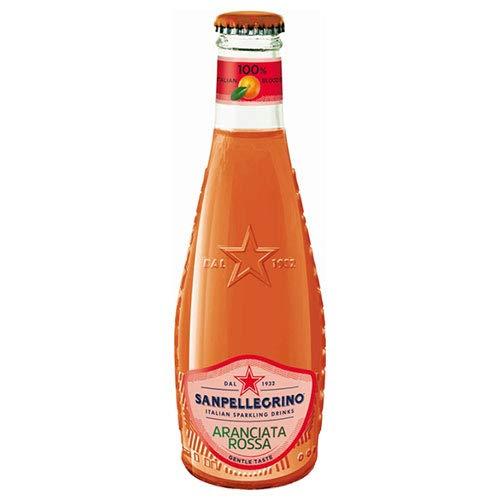 サンペレグリノ イタリアンスパークリングドリンク アランチャータ・ロッサ(ブラッドオレンジ) 200ml瓶×24本入×(2ケース)