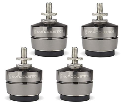 IsoAcoustics Gaia Series Isolation Feet for Speakers & Subwoofers (Gaia III, 70 lb max)  Set of 4