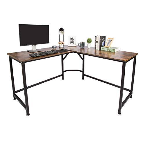 TOPSKY L-Shaped Desk Corner Computer Desk 59' x 59' with 24' Deep...
