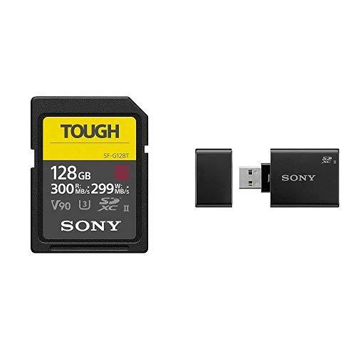 ソニー SONY SDXC メモリーカード 128GB Class10 UHS-II対応 SF-G128T [国内正規品] カードリーダーセット