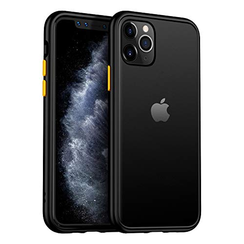 MKOAWA Slim Fit for iPhone 11 Pro Max Case 6.5 Inch, Translucent Matte Case with Soft Edges, Shockproof Protective Case Cover for Apple iPhone 11 Pro Max (2019) - Black