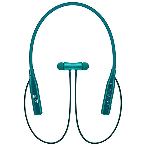 iLive IAEB109TL Bluetooth in-Ear Earbuds with Microphone and Bendable Neck (Teal)