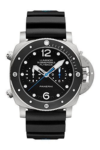Panerai Men's Swiss Automatic Resin and Gold and Platinum Watch, Color:Black (Model: PAM00615)