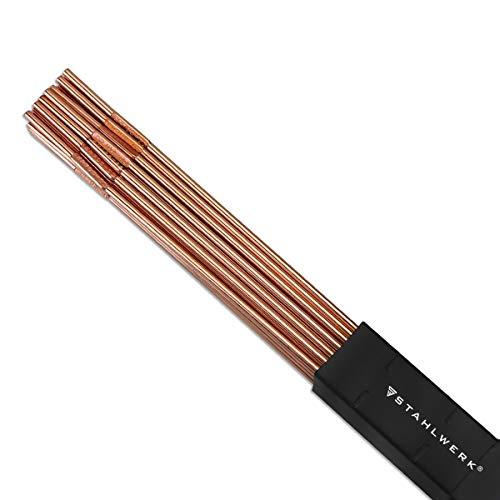 STAHLWERK WIG Schweißstäbe ER70S-G3 Stahl a/Ø 2,5 x 500 mm / 1 kg WIG Schweißzusatz Zusatzwerkstoff
