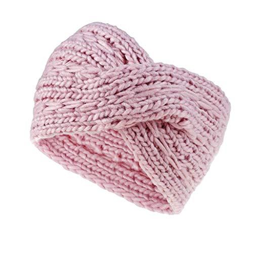 jieGorge New Women Girls Headbands Winter Cross Braided Headband Ear Warmer Head Wraps, Hat, Clothing Shoes & Accessories (Pink)