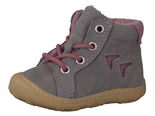 RICOSTA Pepino Mädchen Winterstiefel Georgie, WMS: Mittel, Winter-Boots Outdoor-Kinderschuhe warm gefüttert Kind-er Kids,Graphit,18 EU / 2 UK