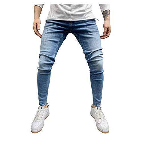 LUNULE Herren Jeanshose Skinny Fit Modell Jeans-Hose Lange Stretch Cargo Jeans Für Männer Sport Jogger Sporthose Casual Jeans Herren Slim Tapered Freizeithose