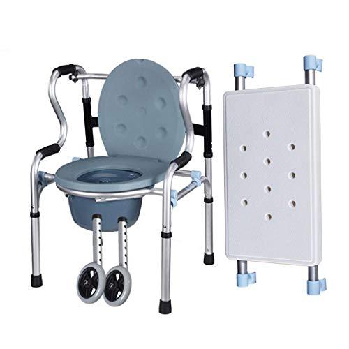 N/Z Home Equipment Stehender Rehabilitations-Walker mit einem Töpfchen-Toiletten-Walker-Riemenscheibe mit Sitz-Laufrahmen-Badekrücke