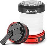 ThorFire Lámpara Camping LED USB Recargable, LED Camping Farol 125LM, Linterna Camping Plegable Carga Manualmente/USB, Ligero e Ideal para Toldo, Pesca, Emergencia