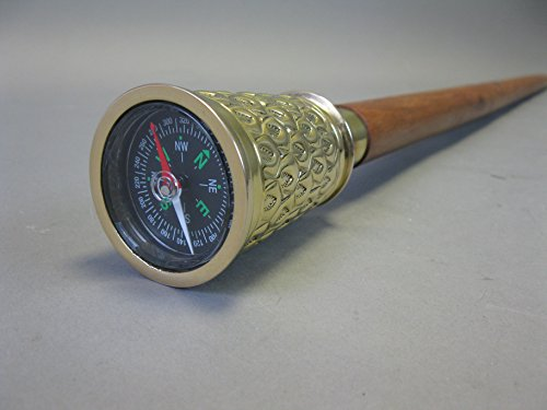 Bâton de marche en bois noble avec boussole 95 cm M46
