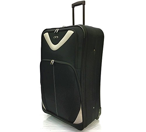 ATX Luggage Lightweight Durable Check in Suitcase Large 29' with 2 Wheels and Expandable Feature Black (29' Large, Black 630)