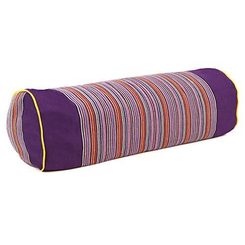 SAPURA Nackenrolle Yoga Pilates Yogakissen groß Natur Baumwolle