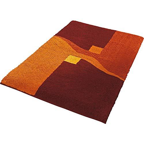 Erwin Müller Badematte, Badteppich, Badvorleger rutschhemmend Terra Größe 80x140 cm - kuscheliger Hochflor, für Fußbodenheizung geeignet (weitere Größen)