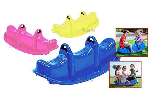 loco by crazy shoes Dondolo Giardino 3 posti 3 Bambini Gioco per Bambini Peso Max 90Kg 47-509 Dondolo Multi Trio