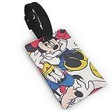 Mickey Cartoon Mouse Minnie impreso PVC etiqueta de equipaje, muy adecuada para descubrir rápidamente maletas de equipaje