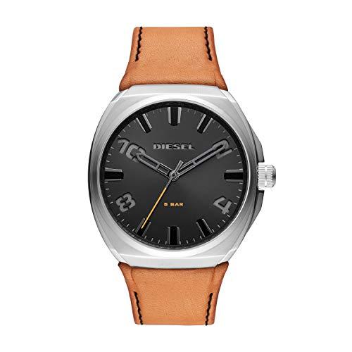 Diesel Herren Analog Quarz Uhr mit Leder Armband DZ1883
