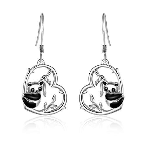 VONALA Boucles d'oreilles panda en argent sterling pour femme et fille