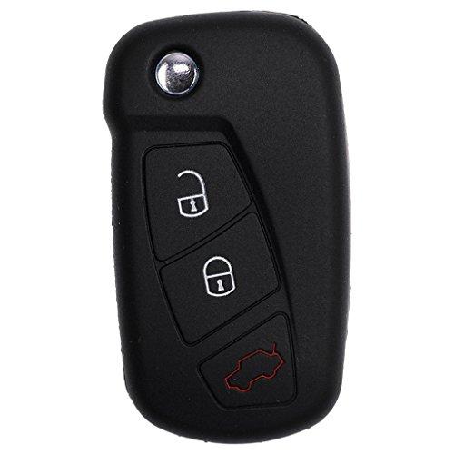Soft Case Schutz Hülle Auto Schlüssel Schwarz für Ford KA