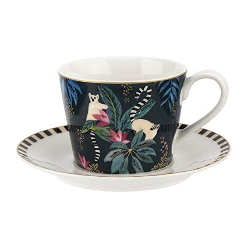 Elegant Lemur Teacup And Saucer