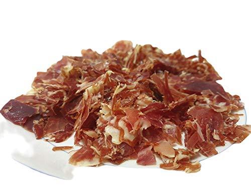 Virutas de jamón ibérico de bellota │ 2 tamaños │ Ideal para bocadillos y cocinar (8 bandejas 120 gr c/u)