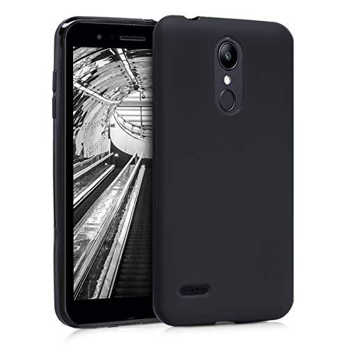 kwmobile Cover compatibile con LG K8 (2018) / K9 - Custodia in silicone TPU - Backcover protezione posteriore- nero matt