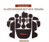linfei Almohadilla De Ranura para Puerta para Jeep Compass 2017-2019 Mk2...
