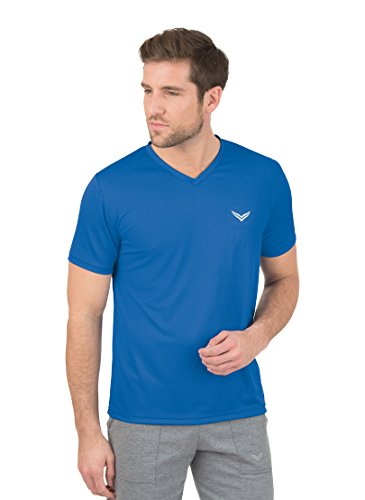 Trigema Herren V-Shirt Coolmax, Bleu-Blau (Electric Blue 048), XX-Large Homme