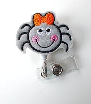 Nursing Badge Happy Spider Retractable ID Badge Reel Felt Badge Name Badge Holder Nurse Badge Holder Nursing Badge Clip