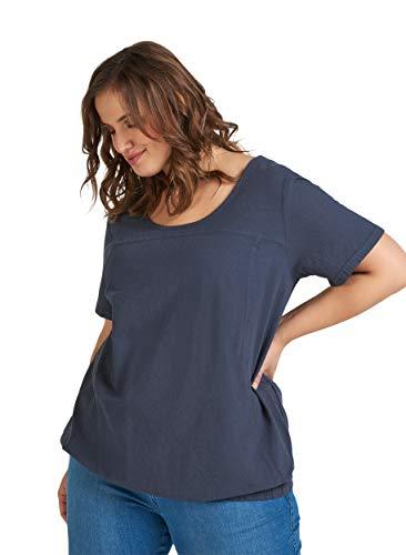 Zizzi Damen Große Größen Bluse Kurzarm Freizeit Rundhals Baumwolle T-Shirt 42-56