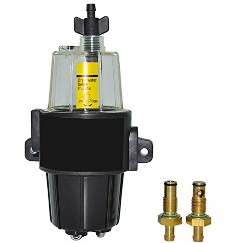 Fransande – Conjunto de separador de agua de filtro de combustible para motor de gasolina de barco de Yacht UF-10K – Cuenco transparente para reserva de combustible de motores fuera de bordo