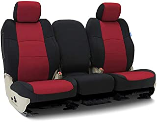 Coverking CSC2A7CH9630 Tailored Seat Covers Neosupreme Red with Black Sides for 2014-2018 Chevrolet Truck Silverado 1500,2500 (not HD)