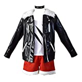 4 unids Anime Arknights Siege Halloween Carnival Cosplay COSTUCHE Juego Daily Uniform Trajes para Unisex Adulto,Negro,S