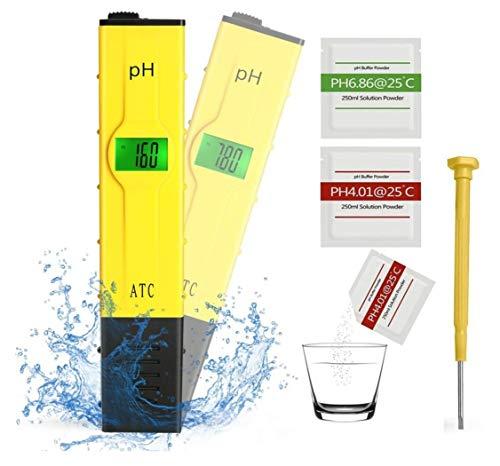 Koopower Digitales pH Messgerät mit LCD-Display, tragbarer Tester/Messer für Aquarium, pH Tester für Urin, pH Wert Meter für Pools, Monitor für Aquarium und Pool Wasser, gelb