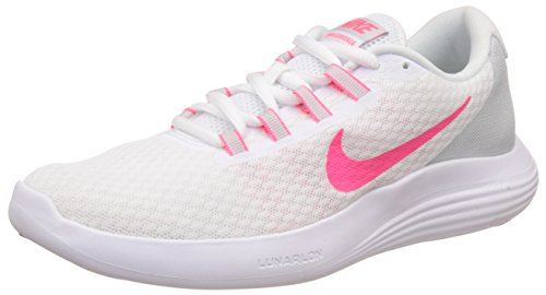 Nike Women's Lunarconverge Running Shoe (White/Racer Pink-Pure Platinum, Numeric_8_Point_5)