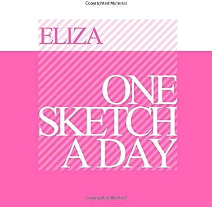 Eliza: Personalized pink sketchbook with name: One sketch a day for 120 days challenge