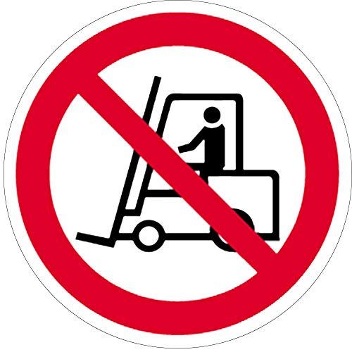 Schild Verbotszeichen Für Flurförderzeuge verboten 20cm Ø PVC
