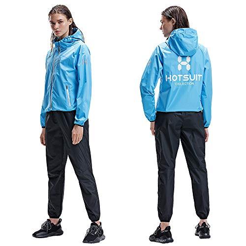 HOTSUIT Trajes de Sudoración para Mujer Pérdida de Peso Duradera Sauna Trajes de Sudor Entrenamiento Fitness, Azul, M