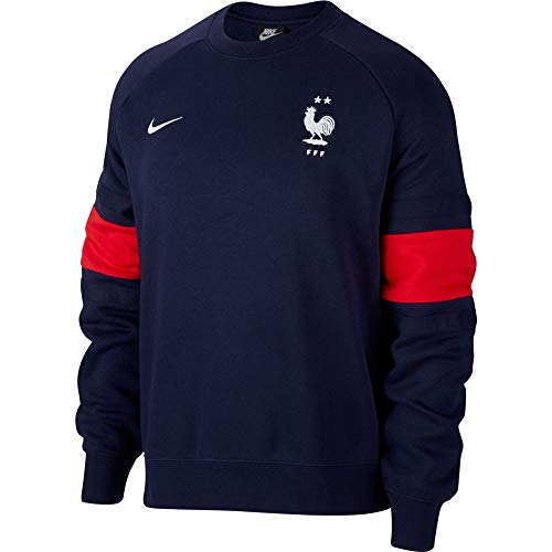 Nike FFF Frankreich Herren Crewneck Sweater Blackened Blue/universtiy red (S)
