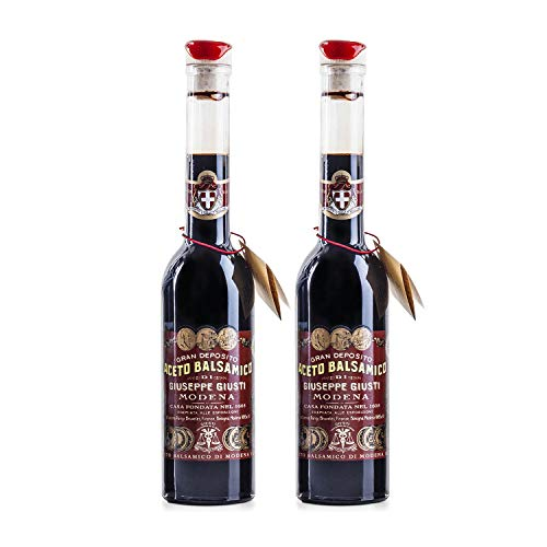 Giuseppe Giusti Riccardo Balsamic Vinegar, Product of Italy - Aged 12 Years - Simfonia, IGP Certified, 8.45fl.oz / 250ml (pack of 2)