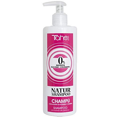 Tahe Natur Champú Fórmula de Limpieza Respetuosa con el Cabello, el Color y la Piel 400 ml