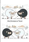 Mes patrons de tricot: Grands carreaux Séyès – A4: 21 x 29.7cm – 100 pages pour conserver tous vos patrons, dessins et modifications au même endroit / ... la couverture arrière / Mouton noir et blanc