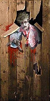Forum Novelties Photo-Realistic Zombie Door Cover Multicolor